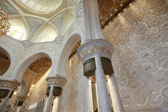 Sheikh Zayed grand mosque abu dhabi Stock Image
