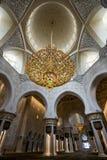 Sheikh Zayed Grand Mosque Abu Dhabi. Interior of the Sheikh Zayed Grand Mosque Abu Dhabi UAE Royalty Free Stock Photo