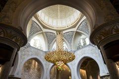 Sheikh Zayed Grand Mosque Abu Dhabi. Interior of the Sheikh Zayed Grand Mosque Abu Dhabi UAE Stock Photo
