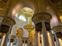 Sheikh Zayed Grand Mosque in Abu Dhabi, interior Royalty Free Stock Photos