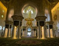 Sheikh Zayed Grand Mosque in Abu Dhabi, interior Royalty Free Stock Photo