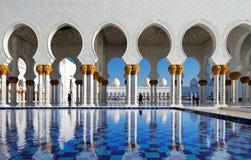 Sheikh Zayed Grand Mosque, Abu Dhabi ist in den UAE das größte Stockbilder