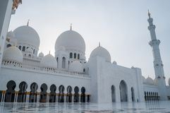 Sheikh Zayed Grand Mosque in Abu Dhabi, la capitale dei UAE immagine stock
