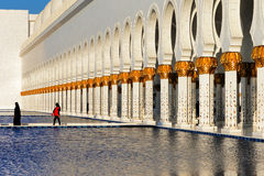 Sheikh Zayed Grand Mosque, Abu Dhabi is the largest in the UAE Stock Photos