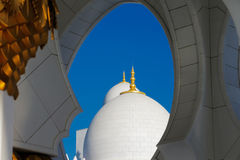Sheikh Zayed Grand Mosque, Abu Dhabi is the largest in the UAE Royalty Free Stock Photography