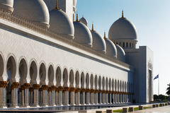 Sheikh Zayed Grand Mosque, Abu Dhabi is the largest in the UAE Royalty Free Stock Photos