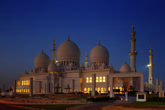 Sheikh Zayed Grand Mosque, Abu Dhabi is the largest in the UAE Stock Photo