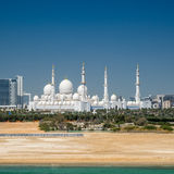 Sheikh  Zayed Grand Mosque in Abu Dhabi Royalty Free Stock Photo