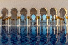Sheikh Zayed Grand Mosque in Abu Dhabi near Dubai, UAE royalty free stock photo