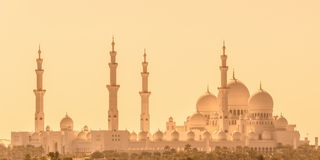 Sheikh Zayed Grand Mosque in Abu Dhabi near Dubai, UAE stock image