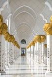 Sheikh Zayed Grand Mosque Abu Dhabi. Pillars in Sheikh Zayed Grand Mosque, Abu Dhabi Stock Image