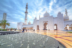 Sheikh Zayed Grand Mosque in Abu Dhabi, UAE Lizenzfreie Stockfotos