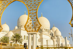 Sheikh Zayed Grand Mosque in Abu Dhabi, UAE Stock Photo