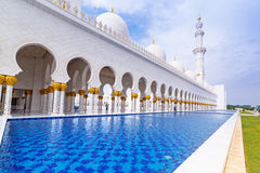 Sheikh Zayed Grand Mosque in Abu Dhabi Royalty Free Stock Photography