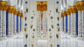 Sheikh Zayed Grand Mosque in Abu Dhabi, United Arab Emirates Royalty Free Stock Photography