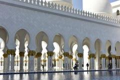 Sheikh Zayed Grand Mosque, Abu Dhabi, United Arab Emirates Royalty Free Stock Photography