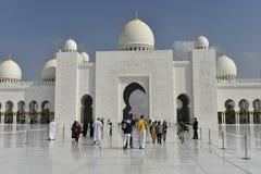 Sheikh Zayed Grand Mosque, Abu Dhabi, United Arab Emirates Royalty Free Stock Image