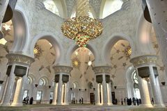 Sheikh Zayed Grand Mosque, Abu Dhabi, United Arab Emirates Royalty Free Stock Photos