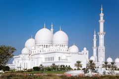 Sheikh Zayed Grand Mosque in Abu Dhabi, Vereinigte Arabische Emirate lizenzfreie stockfotos