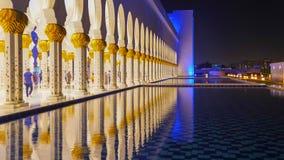 Sheikh Zayed Grand Mosque in Abu Dhabi, Vereinigte Arabische Emirate Stockbilder