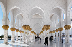 Sheikh Zayed Grand Mosque, Abu Dhabi, Vereinigte Arabische Emirate Stockfotografie