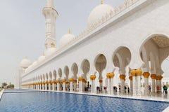 Sheikh Zayed Grand Mosque, Abu Dhabi, Vereinigte Arabische Emirate Stockfoto