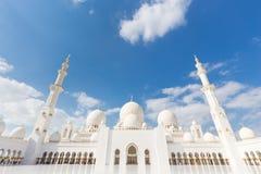 Sheikh Zayed Grand Mosque, Abu Dhabi, Vereinigte Arabische Emirate Stockbild