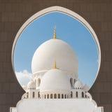 Sheikh Zayed Grand Mosque, Abu Dhabi, Vereinigte Arabische Emirate Stockfotos