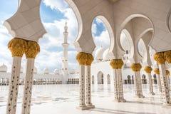 Sheikh Zayed Grand Mosque, Abu Dhabi, Vereinigte Arabische Emirate Lizenzfreie Stockfotos
