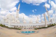 Sheikh Zayed Grand Mosque, Abu Dhabi, Vereinigte Arabische Emirate Lizenzfreies Stockfoto