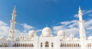 Sheikh Zayed Grand Mosque, Abu Dhabi, Vereinigte Arabische Emirate Lizenzfreies Stockbild