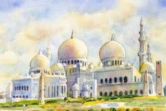 Sheikh Zayed Grand Mosque in Abu Dhabi, Vereinigte Arabische Emirate lizenzfreies stockfoto