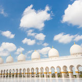 Sheikh Zayed Grand Mosque, Abu Dhabi, Verenigde Arabische Emiraten Royalty-vrije Stock Foto