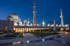 Sheikh Zayed Grand Mosque in Adu Dhabi Lizenzfreie Stockfotografie