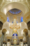 Sheikh Zayed Grand Mosque. Chandeliers inside the Sheikh Zayed Grand Mosque in Abu Dhabi, UAE Royalty Free Stock Images