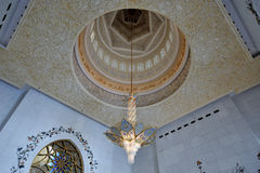 Sheikh Zayed Grand Mosque Crystals-Leuchter Lizenzfreies Stockbild