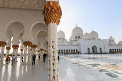 Sheikh Zayed Grand Mosque an der Dämmerung (Abu Dhabi, UAE) Lizenzfreies Stockbild