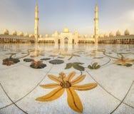 Sheikh Zayed Grand Mosque. At dusk, Abu-Dhabi, UAE Royalty Free Stock Image