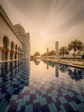 Sheikh Zayed Grand Mosque Stock Photo