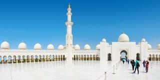 Sheikh Zayed Grand Mosque el 2 de octubre de 2014 en Abu Dhabi Imagenes de archivo