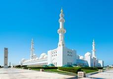 Sheikh Zayed Grand Mosque el 2 de octubre de 2014 en Abu Dhabi Fotografía de archivo libre de regalías