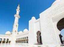 Sheikh Zayed Grand Mosque el 2 de octubre de 2014 en Abu Dhabi Imagen de archivo libre de regalías