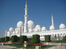 Sheikh Zayed Grand Mosque em Abu Dhabi Foto de Stock Royalty Free