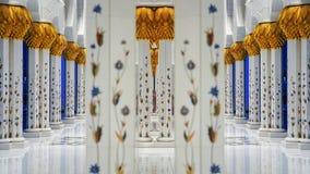 Sheikh Zayed Grand Mosque en Abu Dhabi, United Arab Emirates Fotografía de archivo libre de regalías