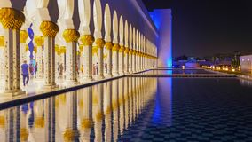 Sheikh Zayed Grand Mosque en Abu Dhabi, United Arab Emirates Imagenes de archivo