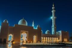 Sheikh Zayed Grand Mosque en Adu Dhabi Imagenes de archivo