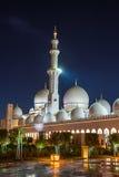 Sheikh Zayed Grand Mosque en Adu Dhabi Fotos de archivo
