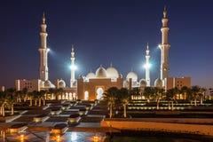 Sheikh Zayed Grand Mosque en Adu Dhabi Fotografía de archivo