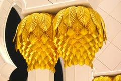 Sheikh Zayed Grand Mosque-het ontwerp van de pijlerbloem Royalty-vrije Stock Afbeelding