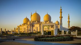 Sheikh Zayed Grand Mosque i Abu Dhabi 5 arkivbilder